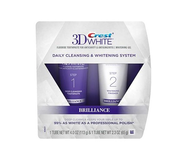 Crest 3D White Brilliance 2 step Whitening system - toothpaste